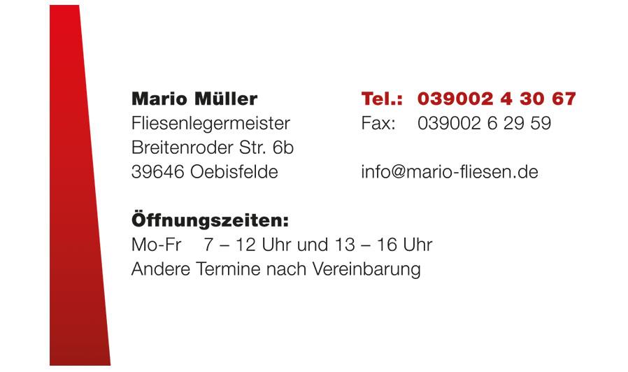 Kontakt Mario Fliesen